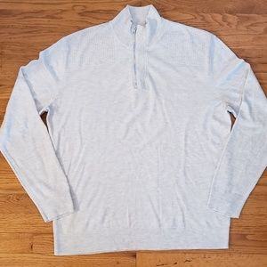 INC MACYS Sweater merino wool cream EUC Men's L XL